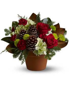 Countryside Christmas Flower Arrangement