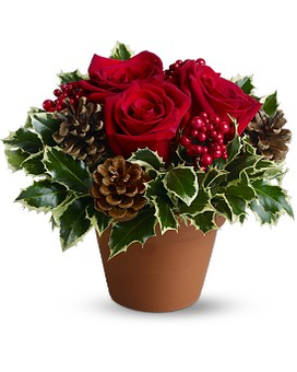 Holly Holiday Flower Arrangement