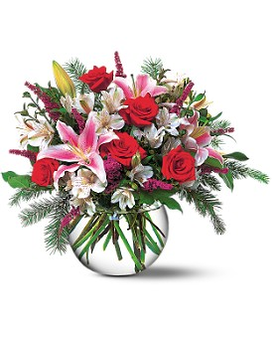 Holiday Happiness Flower Arrangement