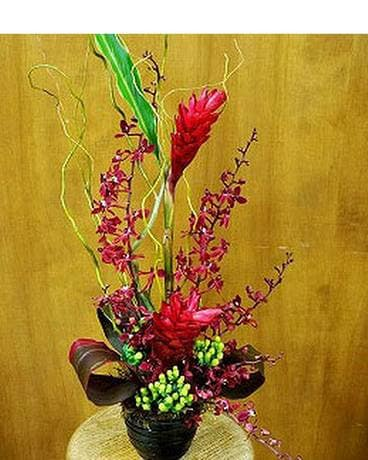 Regal Red Tropical Bouquet Flower Arrangement