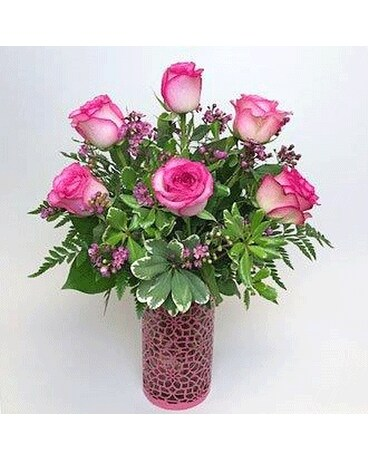 Pink Rose Delight Flower Arrangement