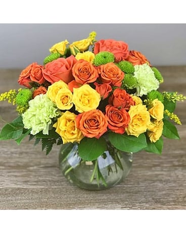Sweet Citrus Flower Arrangement
