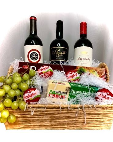 Happy Hour Basket- Red Wine Gift Basket