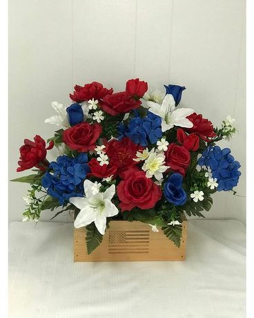 SIlk Red White & Blue Log Custom product