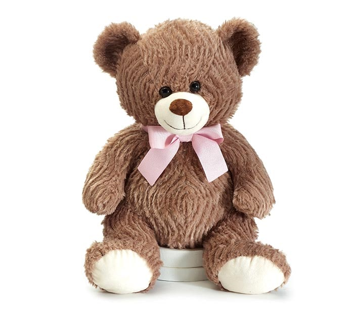Premium Brown Bear with Pink Bow