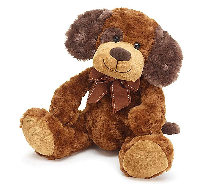 Sitting Brown Dog Plush