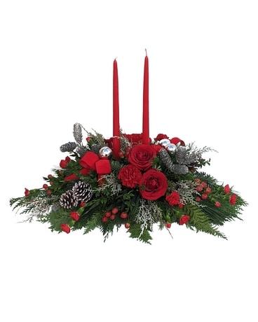 Silver Bells Centerpiece Flower Arrangement
