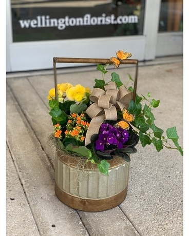 Wishing Well Flower Arrangement