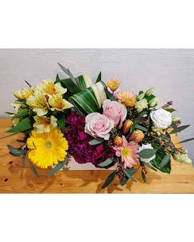Sunshine and Roses Flower Arrangement