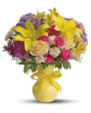 Teleflora's Color It Happy - Deluxe Flower Arrangement