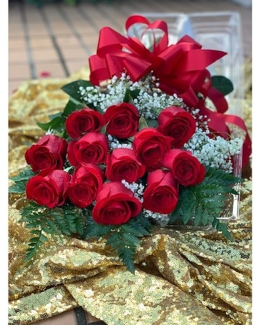 Dozen Boxed Red Rose Special (NO COUPON)