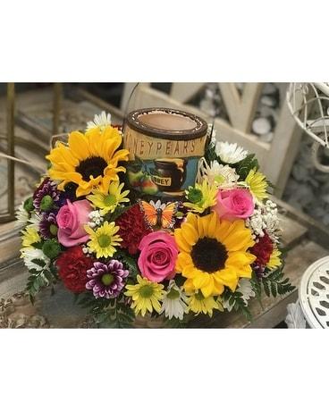 Birthday Cake Garden Flower Arrangement