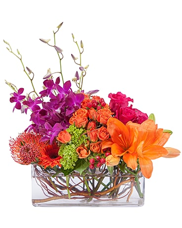 Powerfully Prismatic Flower Arrangement