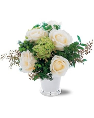 Silver mint julep bouquet in hialeah fl bella flor flowers silver mint julep bouquet flower arrangement mightylinksfo