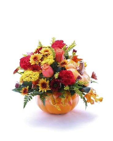 Pumpkin Patch Flower Arrangement