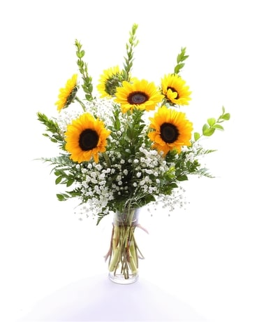 6 Sunflowers Flower Arrangement