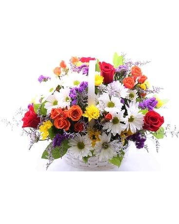 Basket of Blooms Flower Arrangement