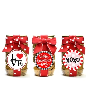 Chocolate Chip Cookies - Valentine Pint Jar Gifts