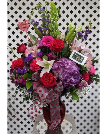 Love You MOST Vase Flower Arrangement
