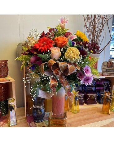 Ombre Fall Fab Flower Arrangement