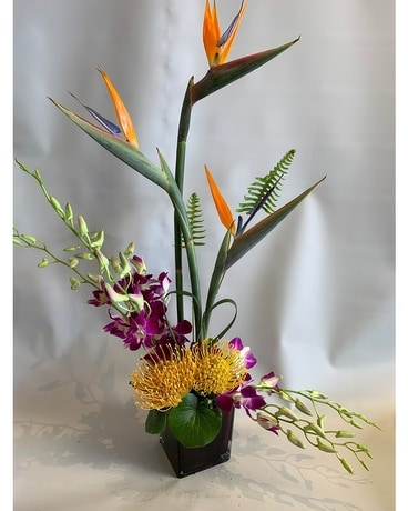 Exotic Bird of Paradise Flower Arrangement