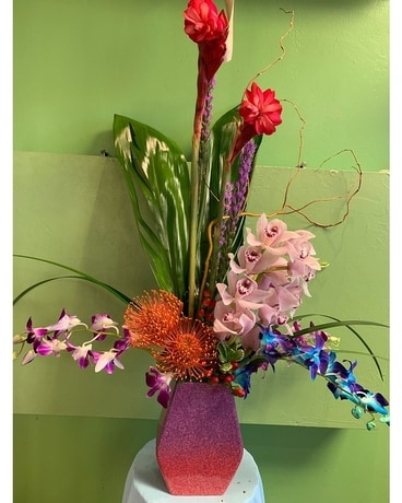 Tropical Sunset Flower Arrangement