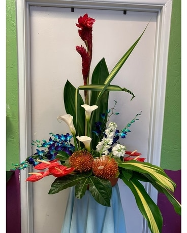 Tropical Ocean Breeze Bouquet Flower Arrangement