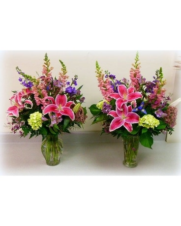 Lilies and stargazers (price for one vase) Flower Arrangement