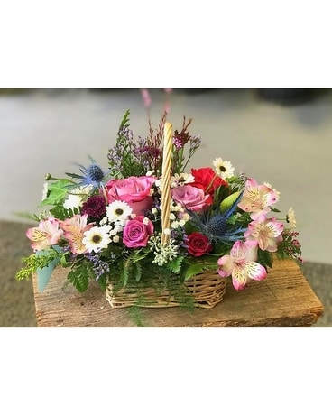 Lavender and Blue Flower Arrangement