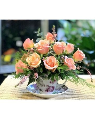 Victorian Tea Party Flower Arrangement
