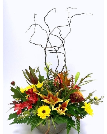 Warm Family Harvest Flower Arrangement