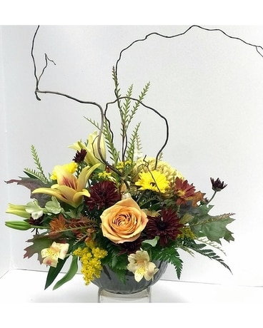 Delicate Warm Glow Flower Arrangement