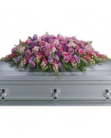 Lavender tribute spray in ocean springs ms lady dis lavender tribute spray flower arrangement mightylinksfo