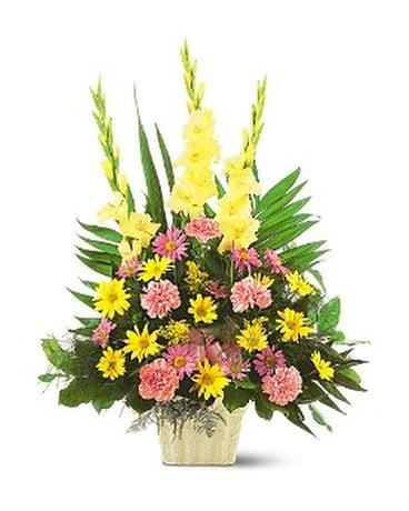 Warm thoughts arrangement in ocean springs ms lady dis warm thoughts arrangement flower arrangement mightylinksfo