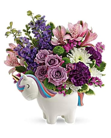 Teleflora's Magical Mood Unicorn Bouquet Flower Arrangement