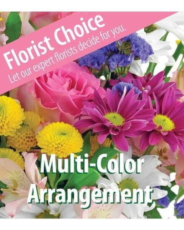 Multi-Colored Designer's Choice Flower Arrangement