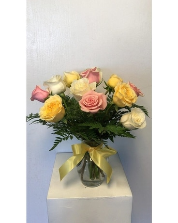 Pastel Rose Special Flower Arrangement