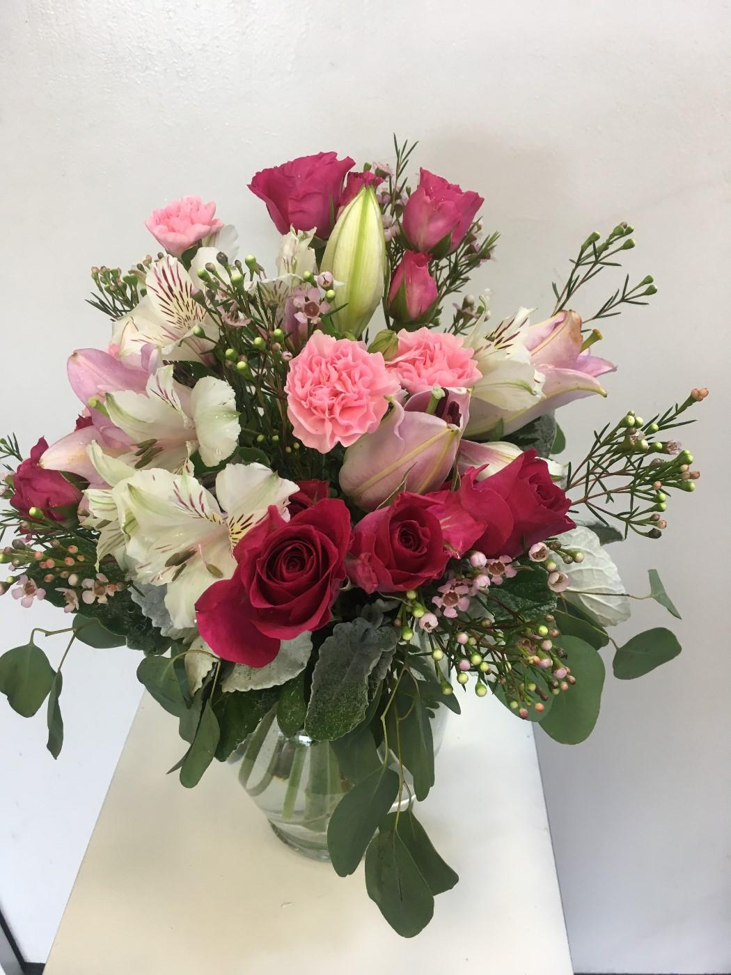 Hot Pink Parade Flower Arrangement