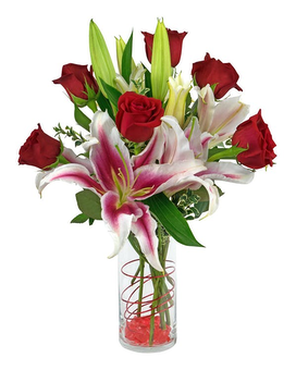 REFLECTIONS OF LOVE - RED ROSES Flower Arrangement