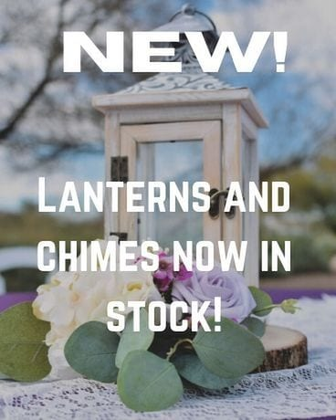 New! Lanterns and Chimes Flower Arrangement