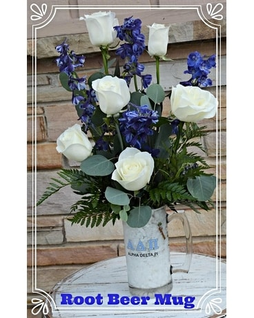 Alpha Delta Pi Root Beer Mug Flower Arrangement