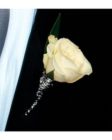 White rose boutonniere in bothell wa the bothell florist white rose boutonniere flower arrangement mightylinksfo