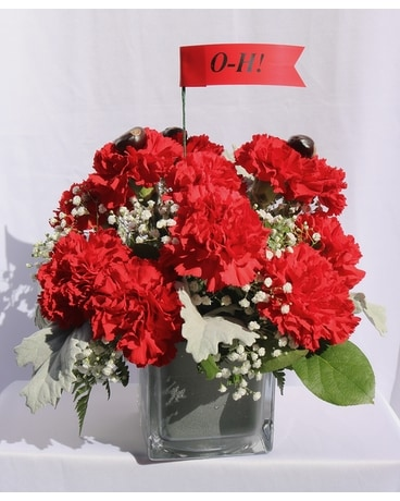 Buckeye Fan Bouquet Flower Arrangement