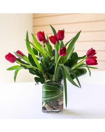 Dazzling Tulips Flower Arrangement