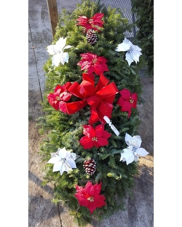 Red & White Poinsettias Blanket