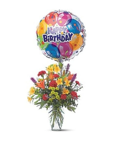Birthday Balloon Bouquet Flower Arrangement