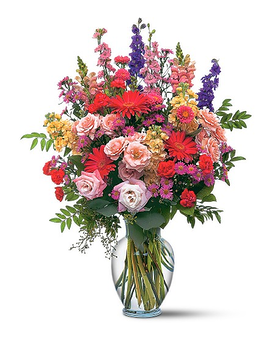 Large Sunshine And Smiles Flower Arrangement