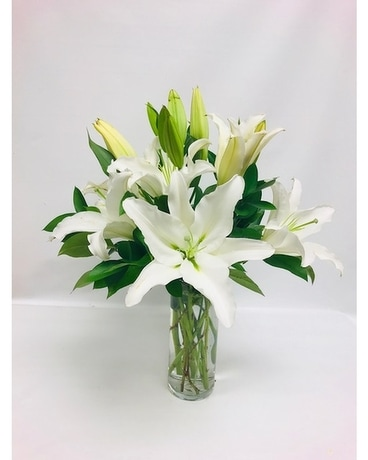 Beautiful White Lilies Flower Arrangement
