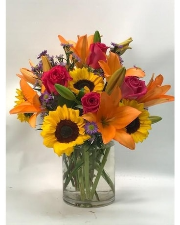 Orange Breeze Flower Arrangement