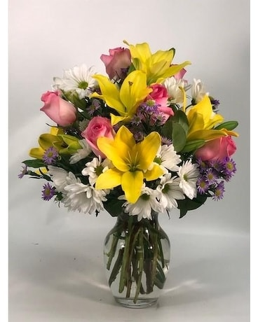 Brighten Up Anyone's Day Flower Arrangement